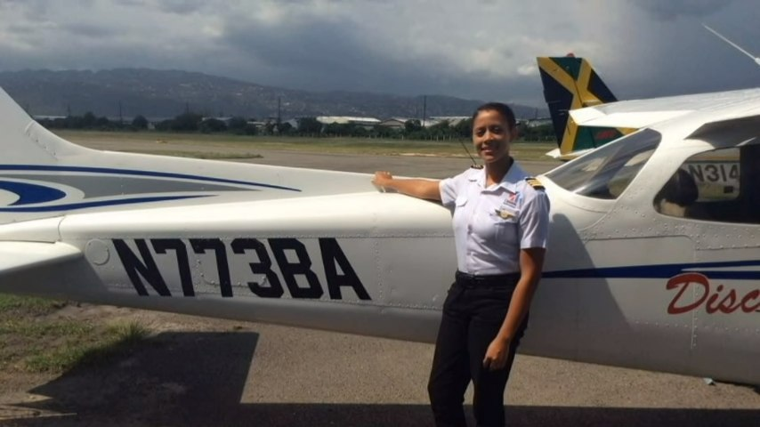 20-Yr-Old Jamaican, Ashli MCclure, Earns Commercial Pilot's Licence