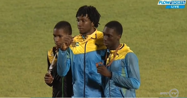 Kobe-Jordan Rhooms cleared 2.06m to win the silver medal in Boys High Jump Under-18 on Day 2 of the 2016 CARIFTA Games held in St. George's, Grenada.