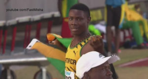 Michael Stephens Wins Boys' 200m U-18 at CARIFTA 2016