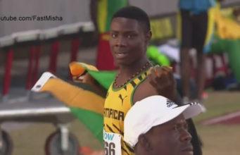 Michael Stephens Wins Boys' 200m U-18 at CARIFTA 2016
