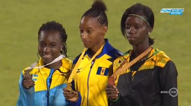 Tiffany James wins bronze in Girls 400 Meter Dash UNDER 20
