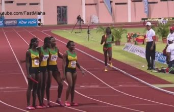 Jamaica Wins Girls' 4x400m Relay U-20 at at 2016 CARIFTA Games