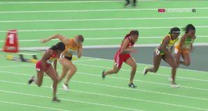 Barbara PIERRE wins Women's 60m Final 2016 IAAF World Indoor Championships Portland 2016