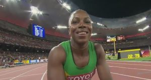 Veronica Campbell-Brown Runs a season's best 10.83 in Florida