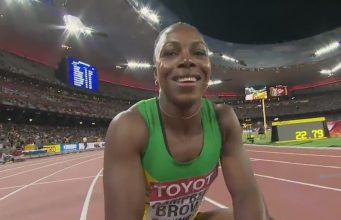 Veronica Campbell-Brown Runs a season's best 10.83 in Florida