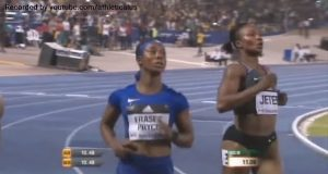 Shelly-Ann Fraser-Pryce Wins 100m at Racers Grand Prix