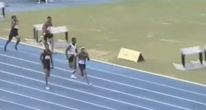 Nigel Ellis Wins 200m title at JAM National Junior Championships