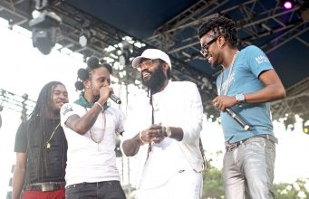 Tarrus Riley was joined by Beenie Man and Popcaan on stage during his performance at 'World's Greatest Reggae Festival', Reggae Sumfest.