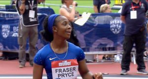 Shelly-Ann Fraser-Pryce 3rd in 100m at London Diamond League