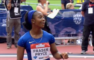 Shelly-Ann Fraser-Pryce 3rd in 100m at London Diamond League