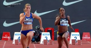 Veronica Campbell-Brown finished second in the Women's 100m at the Monaco Diamond League in 11.12 seconds.