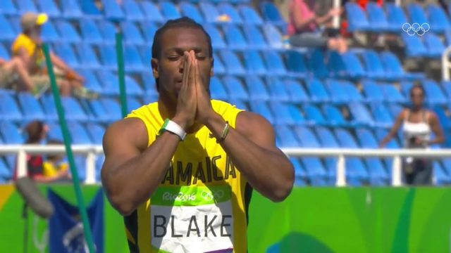 Yohan Blake 2nd in Heat 2: Men's 200m at Rio Olympics