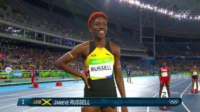 Janieve Russel 2nd in Heat 2, Advances to Women's 400m Hurdles Semis