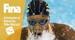 Alia Atkinson Wins 50m Breaststroke at Swimming World Cup Series