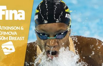 Alia Atkinson Wins 50m Breaststroke at Swimming World Cup Series