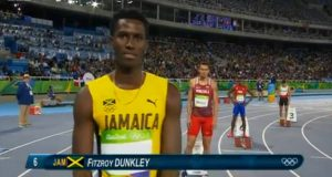 Fitzroy Dunkley 4th in Heat 1 of Men's 400m at Rio 2016 Olympics