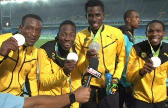 Congrats to Jamaica's Men's 4x400m Relay Team: Silver Medalist