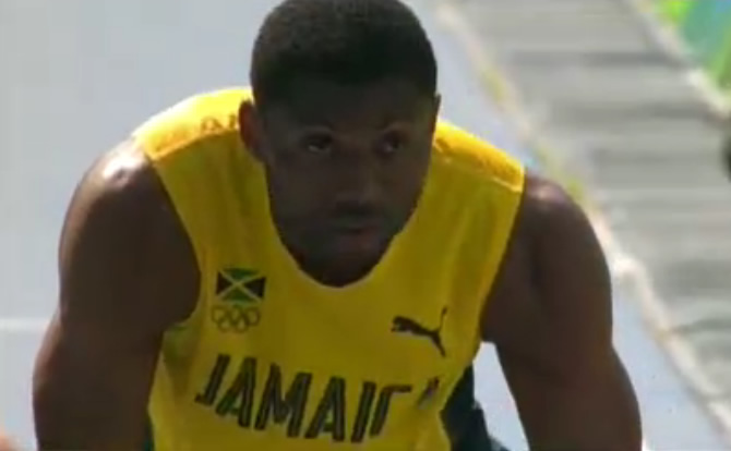 Jamaica's Roxroy Cato has also qualified for the semi-final as one of the fastest losers despite finishing fourth in his heat.