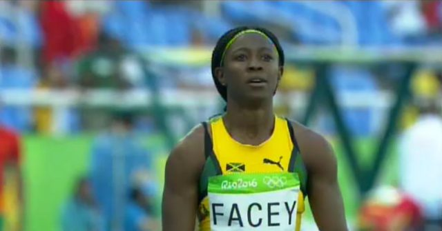 Simone Facey 2nd Heat 3 of Women's 200m at Rio Olympics