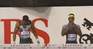 Olympic Champion Omar McLeod was beaten by his biggest rival..in one-hundredth of a second (0.01). Still a GREAT RUN!