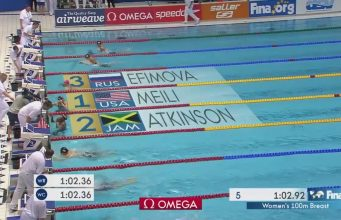 Alia Atkinson Wins Silver in 100 Breaststroke at FINA World Cup in Germany