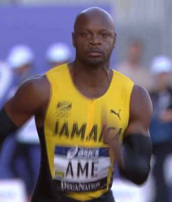 Asafa Powell Wins 100m at DecaNation in France