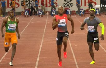 Asafa Powell Wins 100m Diamond Race at Zurich Diamond League