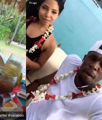 Usain Bolt and Kasi Bennett Enjoying Vacation in Bora Bora
