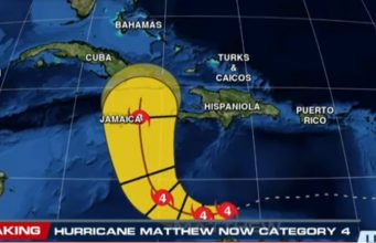 Matthew is Now a Dangerous Category 4 Hurricane, Jamaica Threat