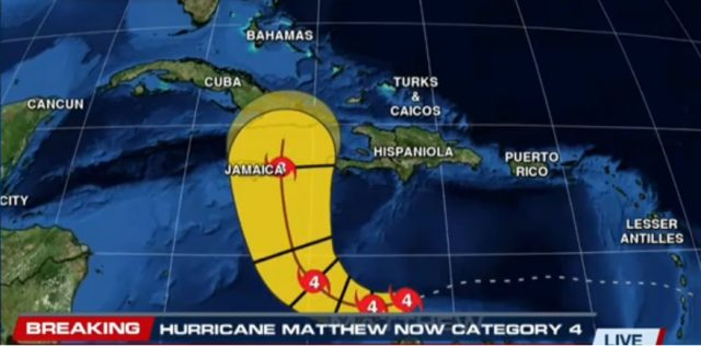 Matthew is Now a Dangerous Category 4 Hurricane, Jamaica Threat