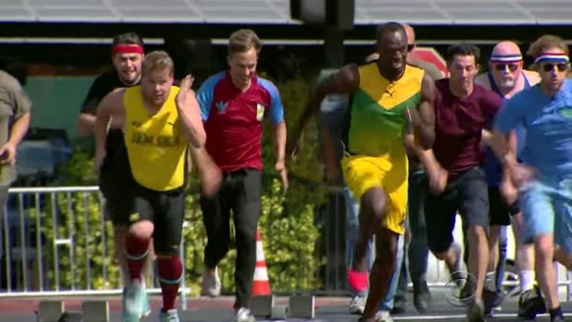 Usain Bolt Raced The Staff of The Late Late Show with James Corden