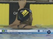 Alia Atkinson (JAM) blitzed a six-year-old World Record in the 50m breast on the final day of the Tokyo leg of the FINA/airweave Swimming World Cup.