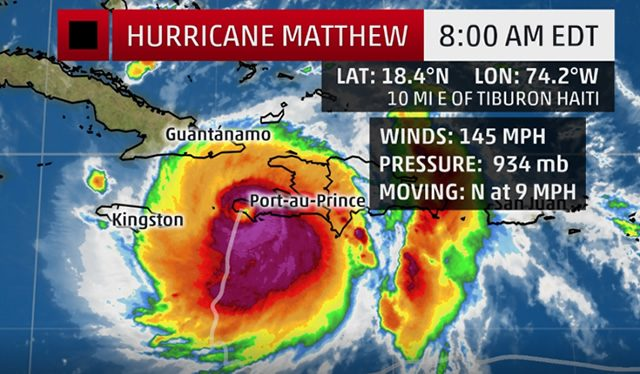 Category 4 Hurricane Matthew has made landfall in Haiti