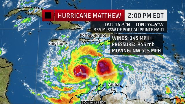 Category 4 Hurricane #Matthew Accelerating Toward Haiti and Jamaica