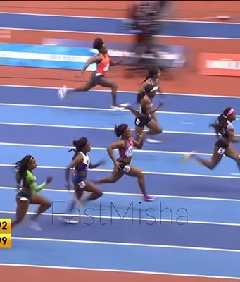 Elaine Thompson Wins 60m at Müller Indoor Grand Prix