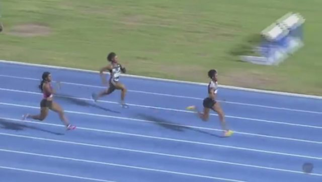 Elaine Thompson ran 10.75 at UTech Classic 2017 in Kingston