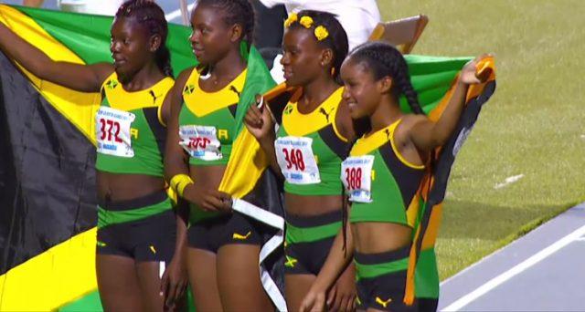 Jamaica win Girls' 4 x100m Relay U-18 Gold at 2017 Carifta Games