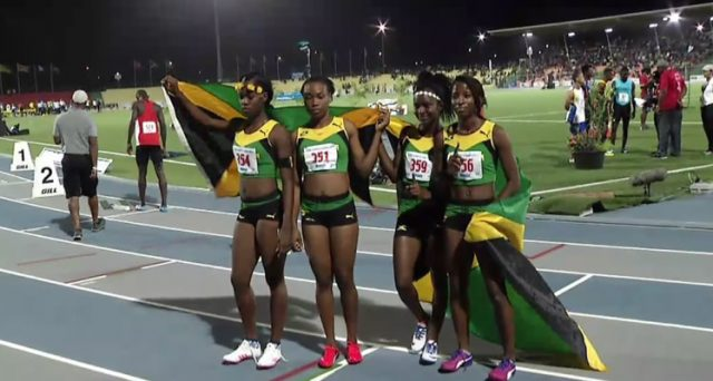 Gold for Jamaica's Girls' 4x100m Relay Under-20