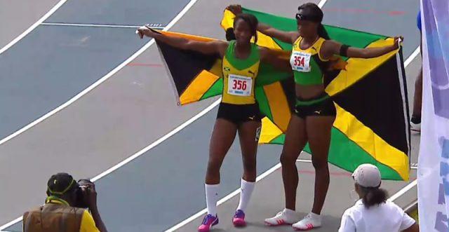 Gold, Silver for Jamaica in Girls' 100m Hurdles U-20 at 2017 CARIFTA