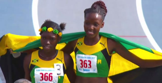 Cemore Donald secured the gold in 2:11.28. Teammate Shaquena Foote took silver in 2:13.44 ahead of Curacao's Shurianty Mathilda, who won the bronze medal in 2:15.3.