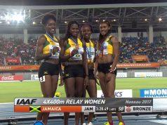 Jamaica Wins Bronze in Women's 4x400m World Relays