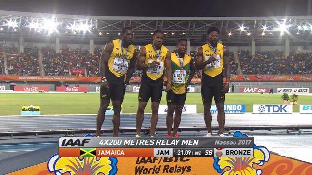 Jamaica Wins Bronze in Men's 4x400m World Relays