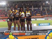 Jamaica Wins Silver in Women's 4x100m World Relays