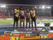 Bronze for Jamaica in Mixed 4x400m World Relays