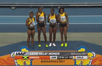 GOLD for Jamaica's Women's 4x200m at World Relays