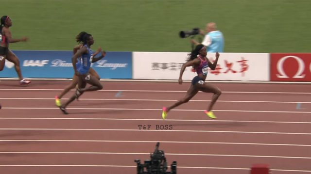 Elaine Thompson Wins 100m at Shanghai Diamond League