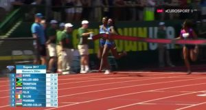 Elaine Thompson 3rd in 200m at Eugene Diamond League ??