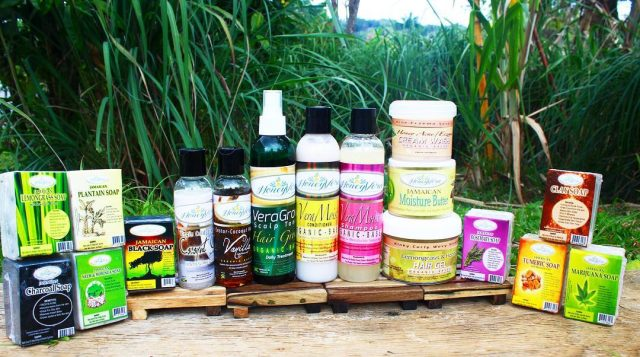 Jamaican creates 17 skin & hair products from local plants and herbs