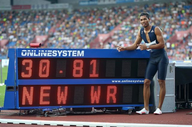 Wade Van Niekerk Just broke 300m World Record set by Michael Johnson