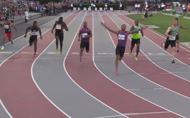 Andre DeGrasse clocks 10.17 after his eye-opening 9.69